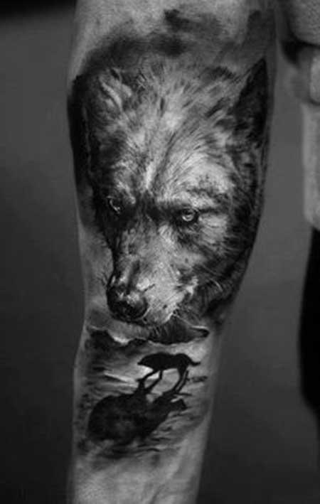 35 fotos de tatuagens de lobos imagens de desenhos. Black Bedroom Furniture Sets. Home Design Ideas
