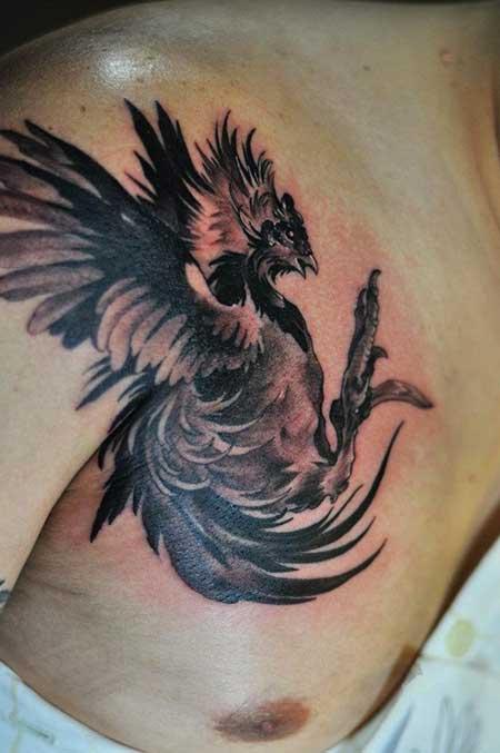 tatuagens de galo