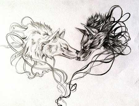 fotos de tatuagens de lobo