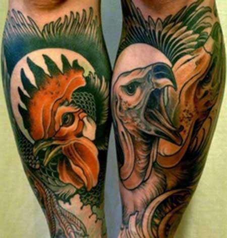tatuagem de galo