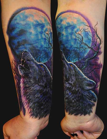 imagens de tatuagens de lobo