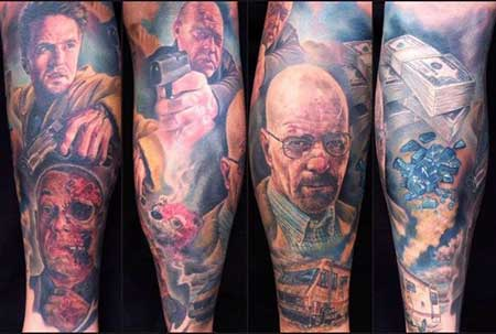 tatuagem na canela