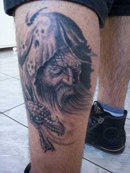 tatuagens na canela