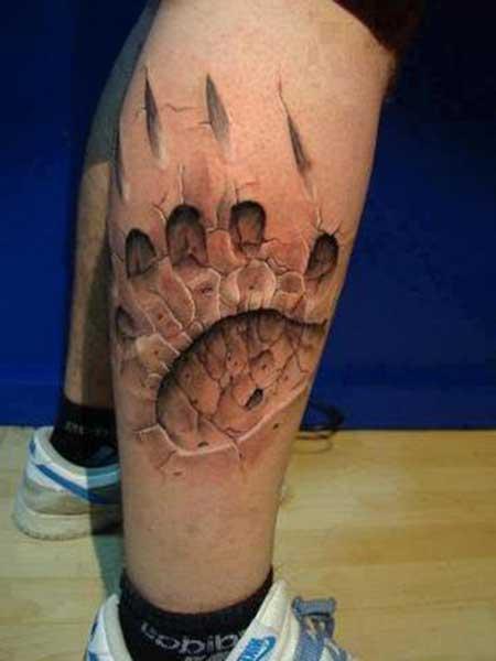 fotos de tatuagens na canela