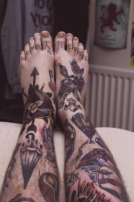desenhos de tatuagens na canela