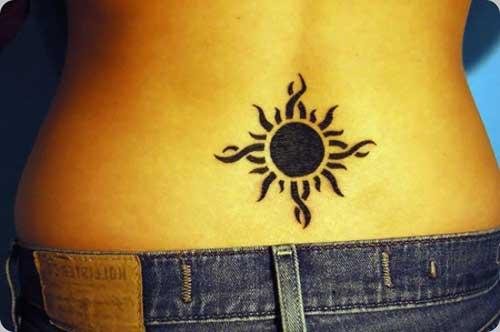 modelo de tatuagem de sol
