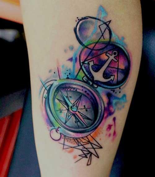 tatuagens de bússula