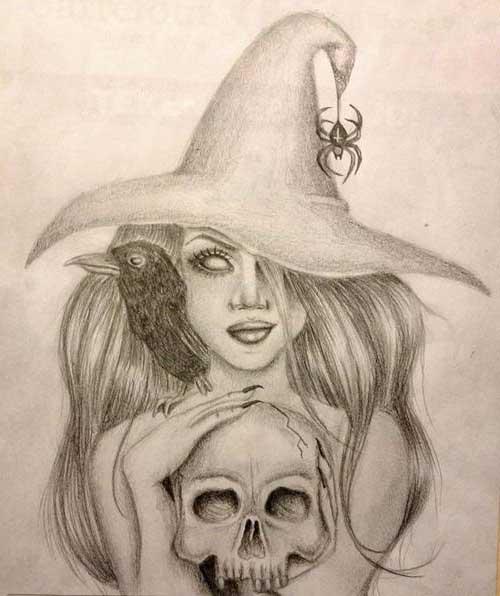 55 Lindas Desenhos Tatuagens De Bruxa Significados