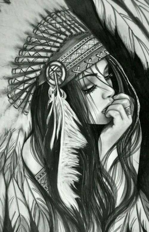 Desenho De India Para Tatuar Mmod