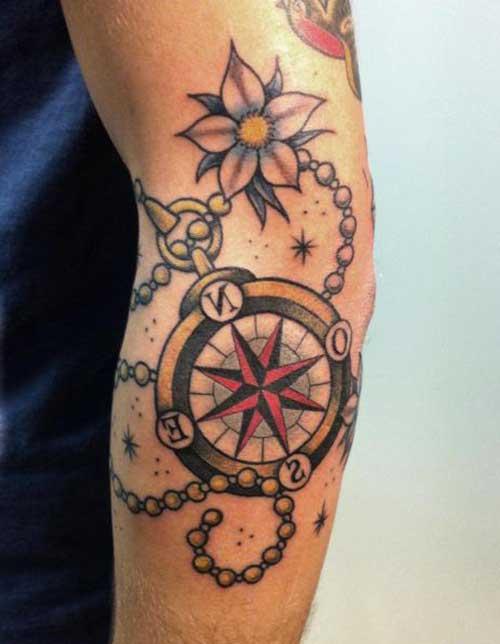 tatuagem de bússula