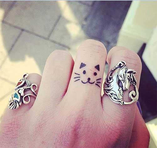 tatuagem de gatinho