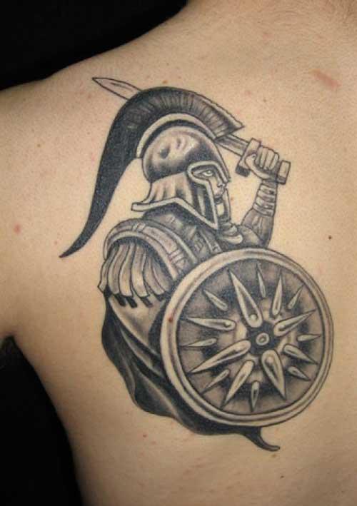 modelo de tatuagem de guerreiro
