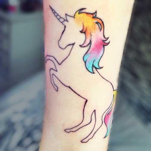 tatuagem de unicornio