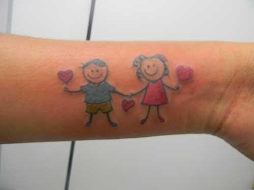 tatuagens de bonequinhos