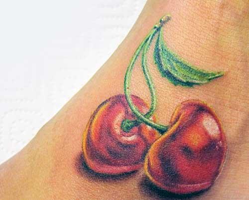 modelo de tatuagem de cereja