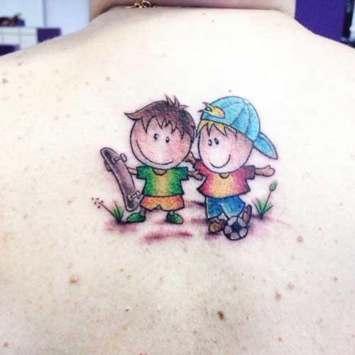 fotos de tatuagens de bonequinhos