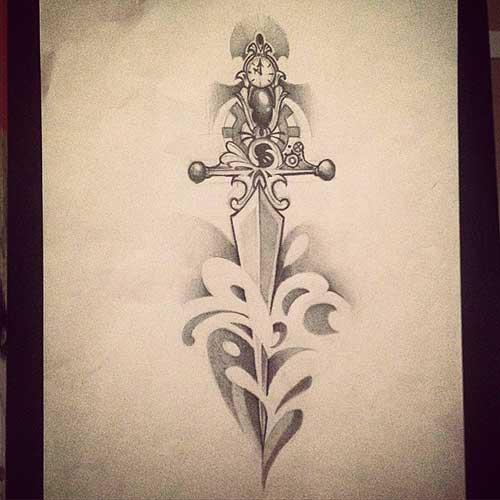 fotos de tatuagens de espadas