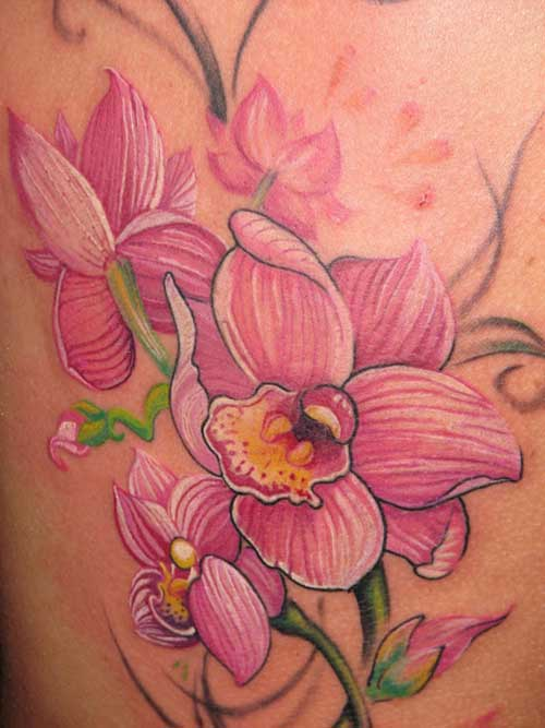 Tatuagens de Orquídeas