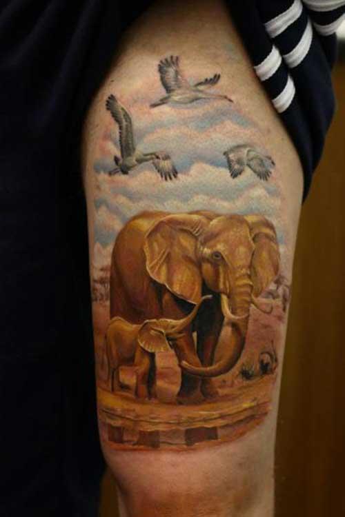 fotos de tatuagens de elefante