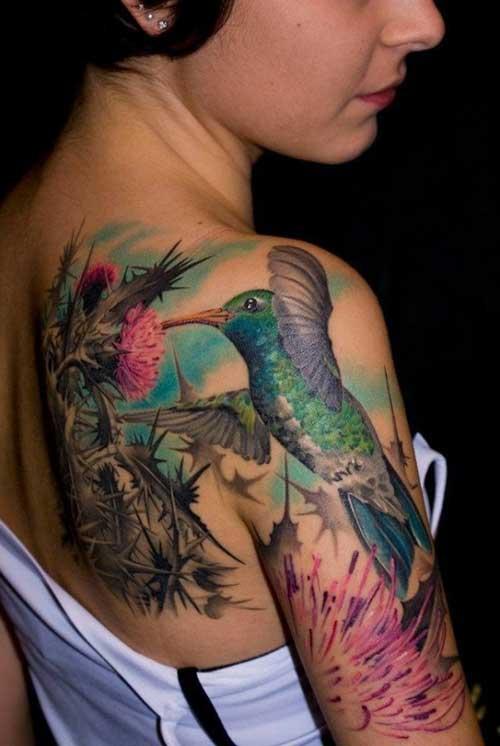 imagens de tatuagens do beija flor