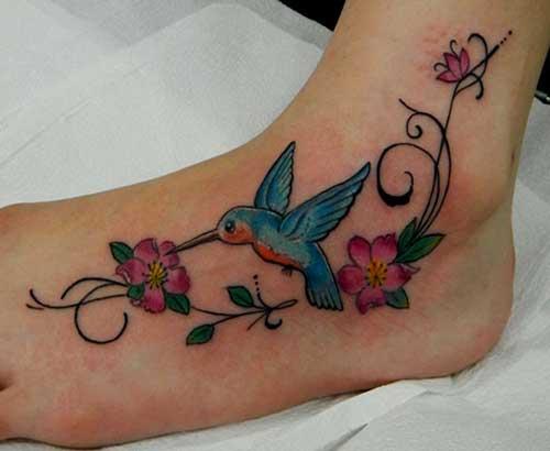 fotos de tatuagens do beija flor