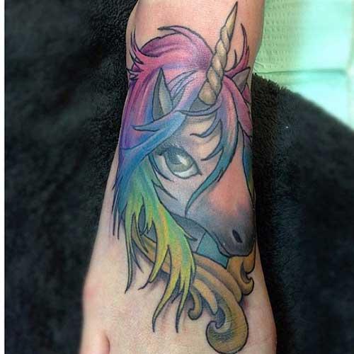 fotos de tatuagens de unicórnios