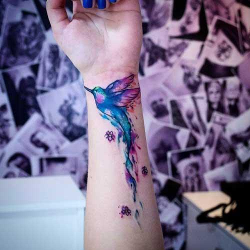 tatuagens do beija flor