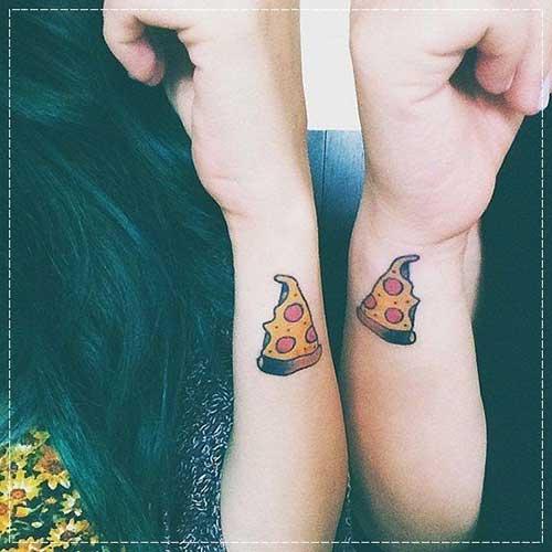 Tatuagem Amizade pizza