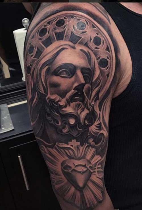 50 Tatuagens De Jesus Cristo Braço Costas Barriga Perna Coxa