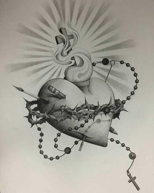 Suficiente 50 Tatuagens de Jesus Cristo: Braço, Costas, Barriga, Perna, Coxa! NN84