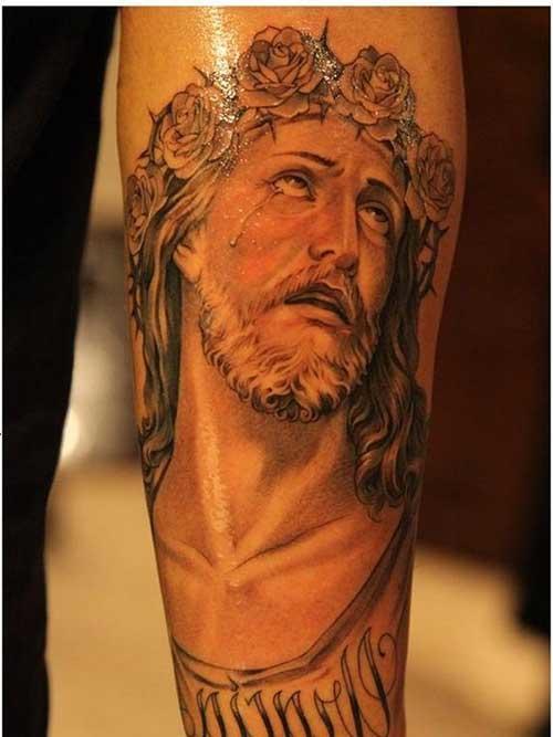 Fabuloso 50 Tatuagens de Jesus Cristo: Braço, Costas, Barriga, Perna, Coxa! RQ82