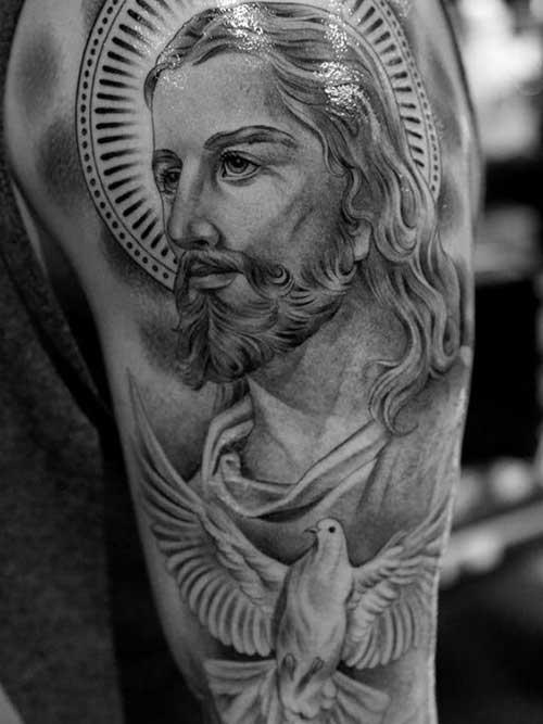 Fabuloso 50 Tatuagens de Jesus Cristo: Braço, Costas, Barriga, Perna, Coxa! UA99
