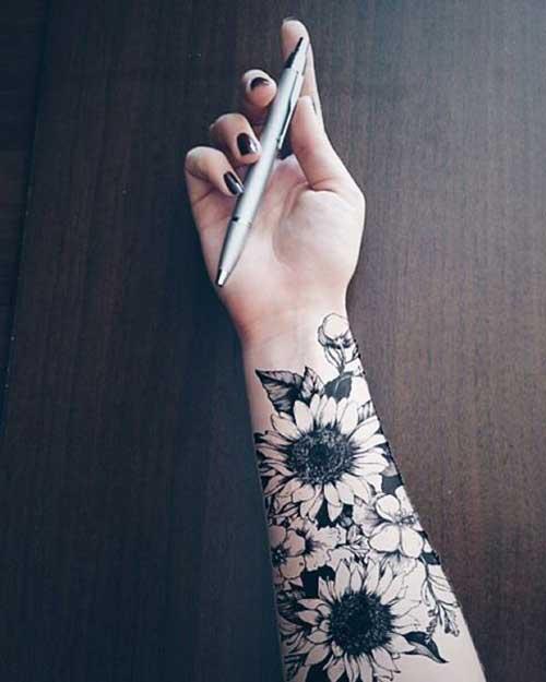 no braço