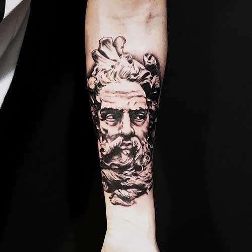 25 Ideias De Tatuagens De Zeus Deus Grego