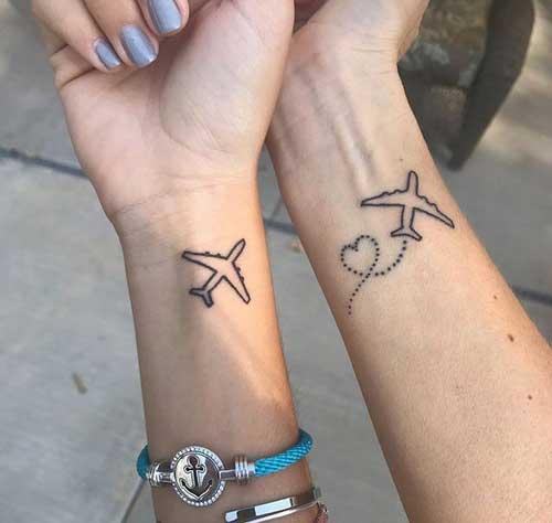 fotos de tatuagem de avião