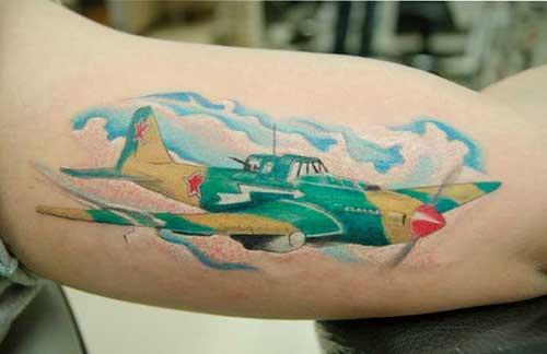 tatuagem de avião