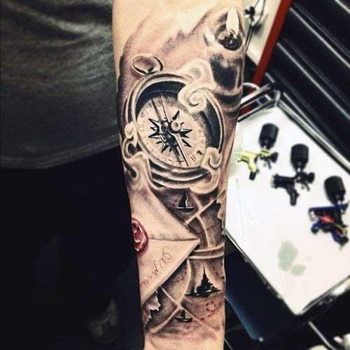 Tatuagem no antebraço de casino