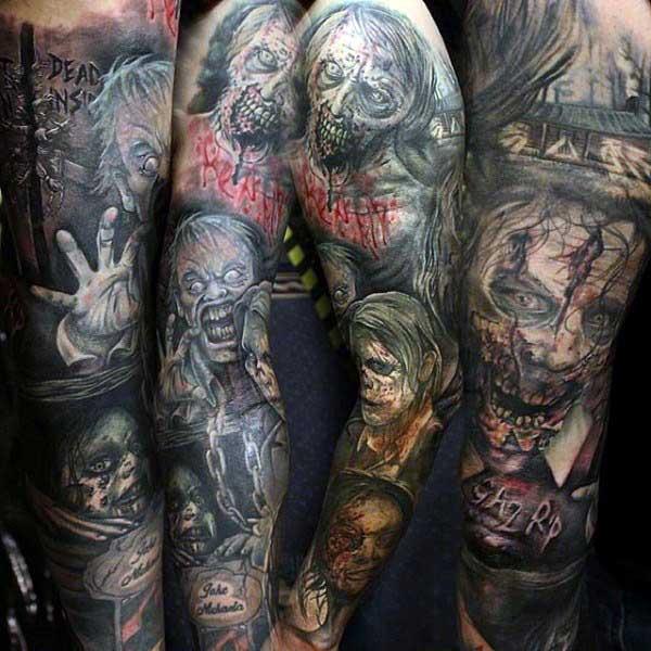 imagens de tatuagem de zumbi