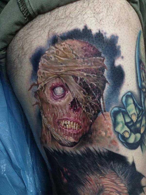 desenhos de tatuagem de zumbi