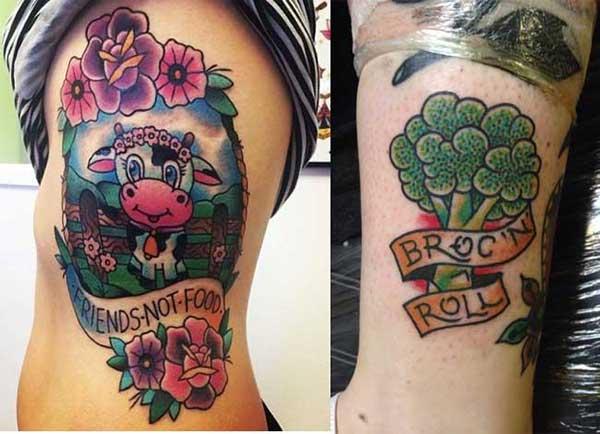 tatuagens vegetarianas
