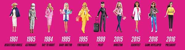 carreiras da boneca